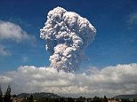 A volcanic eruption in Indonesia has sent colossal clouds of ash shooting five kilometres into the sky