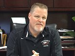 Marjory Stoneman Douglas High School principal Ty Thompson (pictured) posted a video on Saturday, making his first public comments since three teachers and 14 students were shot and killed on campus on Wednesday