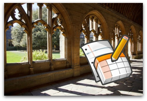 Oxford University and Google Docs. Image from Shutterstock