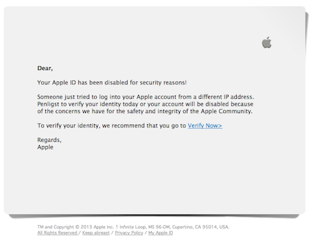 Alert Latest Apple Id Phishing Scam Is Not Simply A Junk Mail How To Report It