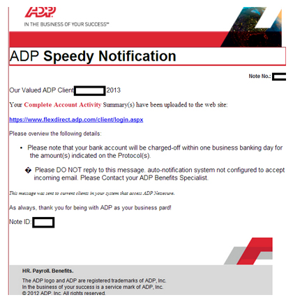 ADP Notification