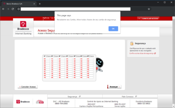Bank Phishing Campaign in Brazil 1